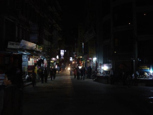 If the Thamel section of Kathmandu looks unusually quiet to you, well, according to Rajneesh Bhandari, it is. Business is way down, especially for tourists, and not for lack of them. The police, Bhandari says, are enforcing an 11 p.m. curfew, citing crime as the reason.
