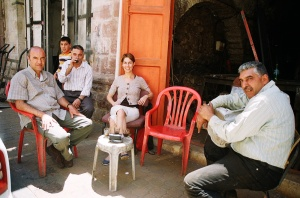 Coffee in Hebron with Wahid